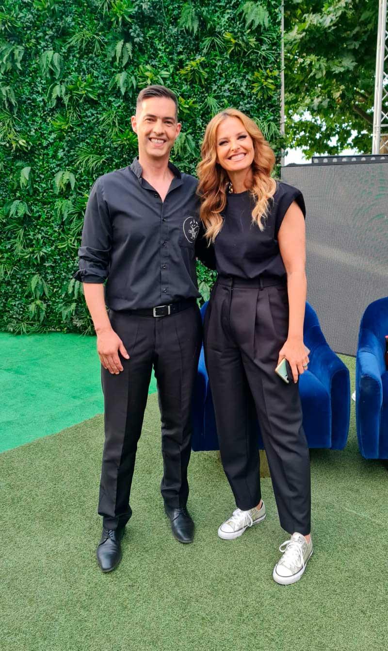 Hugo Silva com Cristina Ferreira