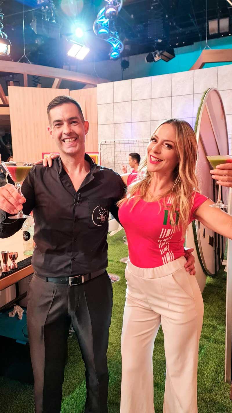 Hugo Silva com Joana Amaral Dias